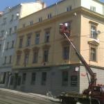 Nátěr fasády bytového domu