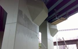 Nátěry betovnových nosníků mostu
