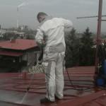 Čištění střechy vapkou